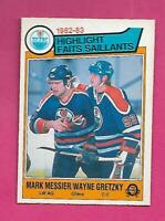 1983-84 OPC  # 23 OILERS WAYNE GRETZKY / MESSIER NRMT CARD (INV# D1117)