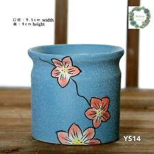 Hand painted plant pots/ vintage style/ clay succulent pot
