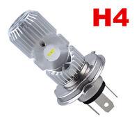 Motorcycle LED DC 12V H4 HS1 Hi Lo COB Light Headlight Motorbike Bulb Lamp 6500K