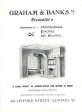 1901 Graham Banks Decorators Chimney Pieces Oxford Street Ad