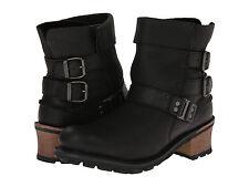 Women's Caterpillar Carolina Boot Black Leather Size US 9 MSRP 150$