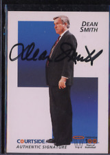 1992 Courtside Flashback Autographs #35 Dean Smith Auto On Card UNC Deceased RIP