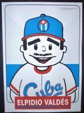 New listing ELPIDIO VALDES / Cuban Screenprint Poster Salutes US-Cuba Ties, Comics, Baseball