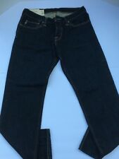 Abercrombie & Fitch Men's jeans size 31-30 slim straight button fly darker blue.