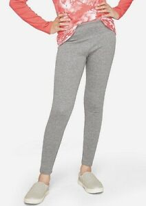 New! Justice Girls Full Length Fleece Leggings Gray Color Size 6