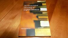 THE CONCISE OXFORD CHRONOLOGY OF ENGLISH LITERATURE British Authors Works Book