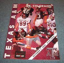 Texas A&M vs Colorado Buffaloes Football Game Program Magazine 2000