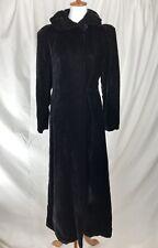 Vintage Black Belour Velvet Cloak - Fully Lined Steampunk Victorian Renaissance