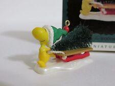 SNOOPY PEANUTS CHARLIE BROWN HALLMARK CHRISTMAS MINI ORNAMENT WOODSTOCK 1996