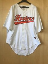 Hooters Baseball Uniform Shirt 2XL White Owl Men's