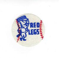 "1960's Cincinnati Redlegs vintage felt patch 2"" old MLB rare logo Reds"