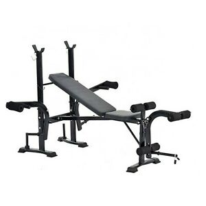 Weight Bench Barbell Lifting Press Gym Equipment Exercise Adjustable Incline US