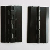2 x Acryl-Scharnier 75mm x 45mm SCHWARZ, Klavier, Scharnier, Scharniere, Angel