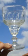 Verre à absinthe en verre taillé, 14 pans, boule creuse (2)