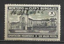 2370B-UNICO PARA VENTA MONTEPIO DEL CLERO BURGALES.SELLO FISCAL 1 PESETA,BURGOS.