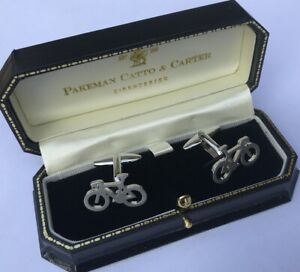 Pakeman Catto & Carter Bicycle Cuff Links - New Boxed Gift !