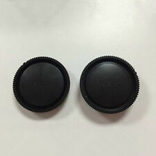 1 Set Rear Lens Cap + Camera Front Body Cover For Sony E-Mount NEX-3 NEX-5 Hot