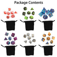 Sale 42Pcs/6 Set Polyhedral Dice w/ Bag For DND RPG MTG Role Playing Board Game~