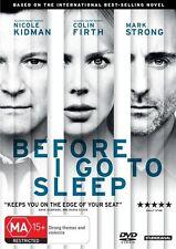 Before I Go To Sleep (2015 Dvd Region 4)  Nicole Kidman Colin Firth Drama Film