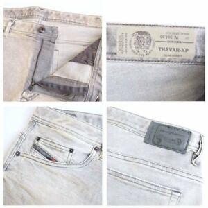 DIESEL THAVAR-XP R99J6 STRETCH Men's Denim Jeans SLIM SKINNY Light Grey RRP £230