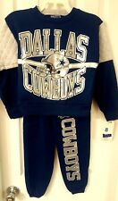 DALLAS COWBOYS Youth Sweatshirt with Pants Size 10 Pajamas Sweatsuit Blue New