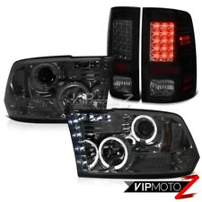 SINISTER BLACK LED Tail Light Smoke Headlight 2009-2017 Dodge Ram 2011 2012 2013