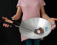 "Thai Set Fry Chef Pan Wok 14""+Ladle 18"" Cookware Kitchen Tools Fried Asian Foods"