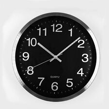 Modern Metal Wall Clock Kitchen School Classroom Office Without Ticks Round 12""