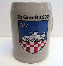 West Germany Beer Stein - 2-50th InfBN, PzGrenBtl 322