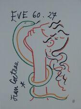 Jean COCTEAU : Eve et le serpent - LITHOGRAPHIE SIGNEE #