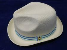 New Licensed Classic  Peter Grimm PORKPIE Trilby Fedora  M/L  straw hat  cr