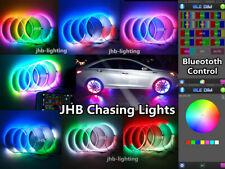 "jhb-lighting 15.5"" IP68 Bluetooth Color Chasing LED Wheel Rings Lights x4PCS SET"