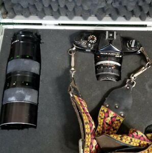 Miranda AIC RE-II 2 35mm Film Camera  - w/ 50mm Soliger Lens , Case, & Cord.
