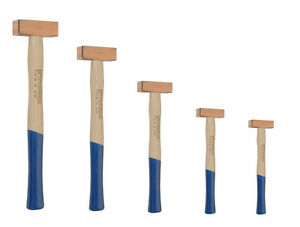 PROMAT Kupferhammer mit Stahlringkeil und Hickorystiel Hammer Kupfer