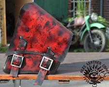 Harley Softail Fat Boy Satteltasche Schwinge Starrahmen Handarbeit Custom Red