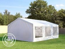 Pavillon 5x6m Partyzelt Festzelt Gartenzelt PE Zelt 240g/m² Dachplane weiß