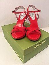 Gianni Bini Aztec Sandal Strap Roma Red Heels Women's Size 8.5M