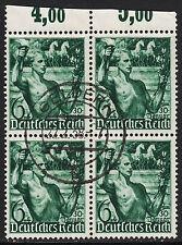 43) DR 660 4er Block vom Oberrand mit zentrischem Vollstempel Geldern 22.2.38