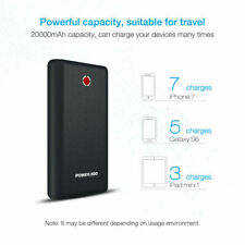Poweradd Pilot X7 20000mAh Power Bank Portable Universal External USB Battery UK