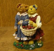 Boyds Bearstones #2277942 Lauren & Jan.Strawberry Friends From Retail Shop 1Ed