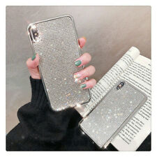 Bling Glitter Crystal Silver Cute Protective Diamond Case Cover For iPhone