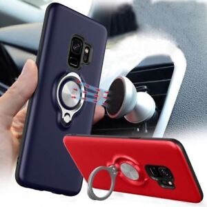 Magnetic Stylish Case Cover With Finger Ring Holder For Apple phone 7 & 8