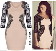 V Neck Party Long Sleeve Stretch, Bodycon Dresses for Women