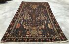 Authentic Hand Knotted Afghan Vintage Zakani Balouch Wool Area Rug 6.5 x 3.10 Ft