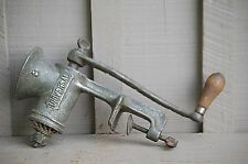 Vintage Universal #3 Meat Grinder w Wooden Handle Kitchen Utensil Tool Made USA