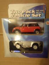 Mini Cooper Red BMW & Pajero Shogun Mitsubishi Silver SWB 4x4 by DiB Toys