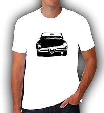 Alfa Romeo Spider duetto retro vintage inspired t shirt tee gift classic car dad