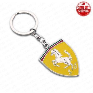 For Ferrari 3D Logo Sport Alloy Car Home Key Keychain Ring Decoration Gift