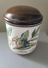 Villeroy & Boch Botanica Porcelain Spice Jar w/ Wood Lid