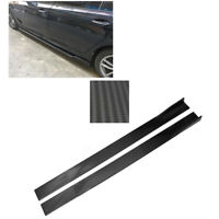 86.6''  Lower Side Skirt Body Kit  Extension Lip Universal Carbon Fiber